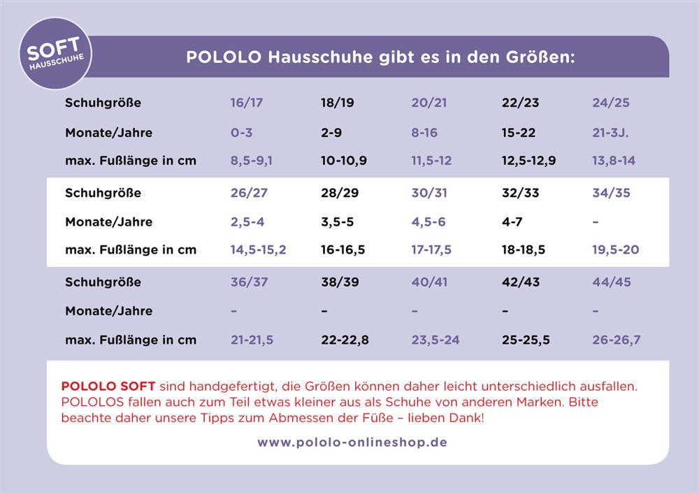 Groessentabelle-Pololo-Hausschuhe-Kinder