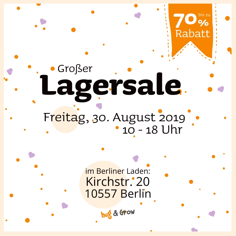 Hug & Grow Lagersale in Berlin