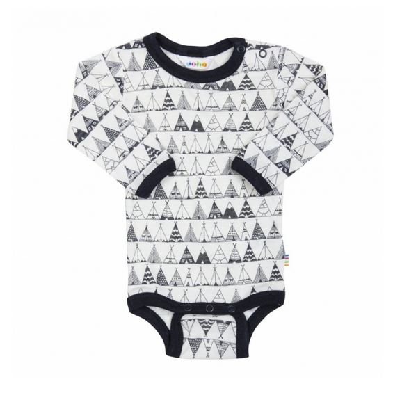 Body Langarm Wolle Seide Tipi navy