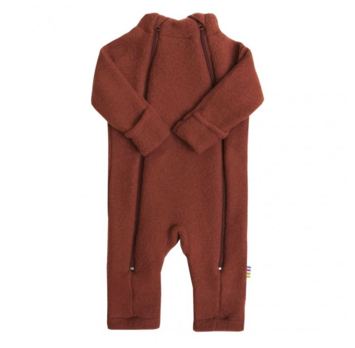 Wollfleece-Overall Wolle soft paprika